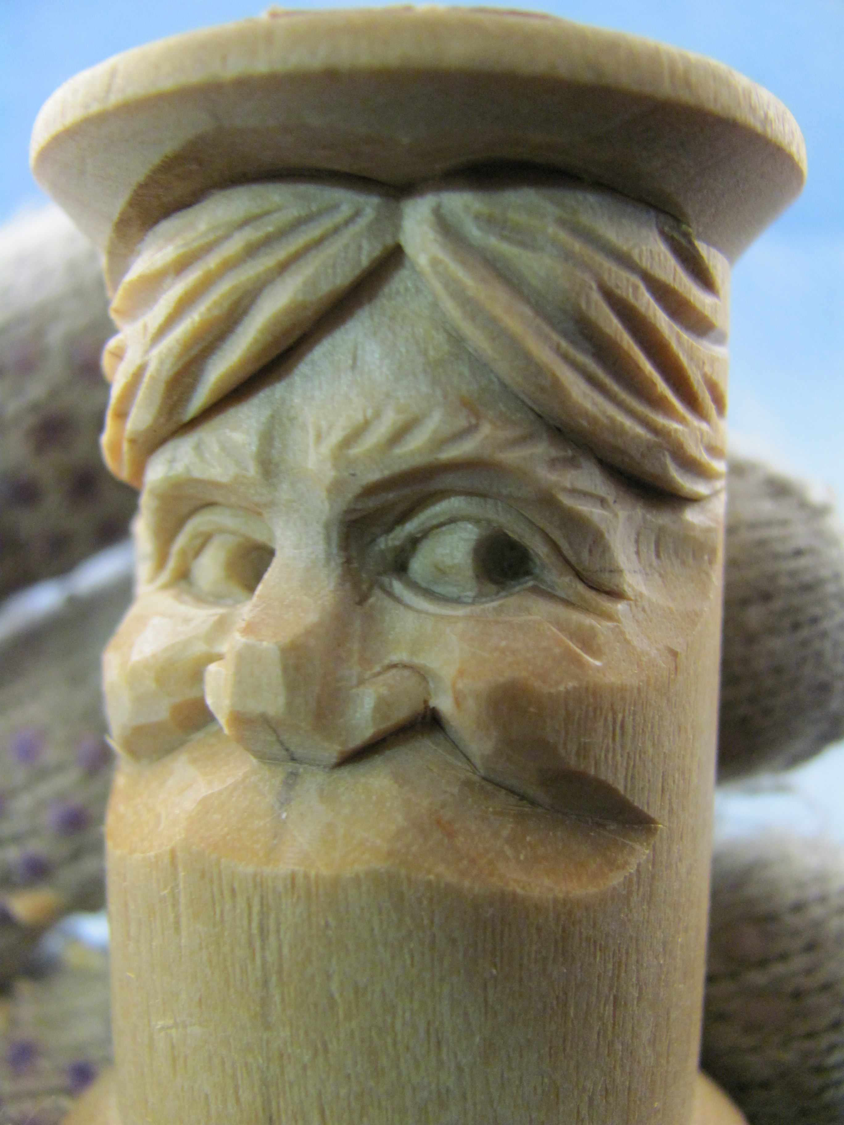 Carving a wooden thread spool carverdale