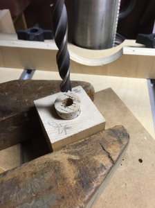 Cork in drilling position.